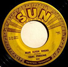 Carl Perkins blu suede shoes