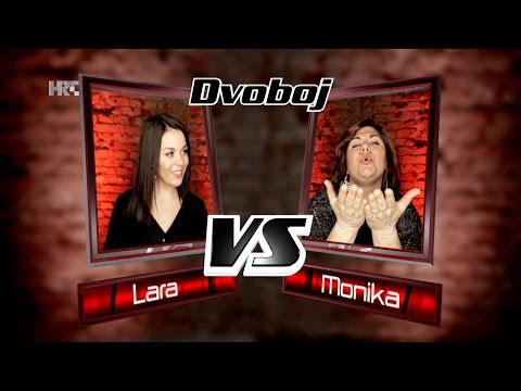 "Lara vs. Monika: ""Moves Like Jagger"" - The Voice of Croatia - Season2 - Battle3"