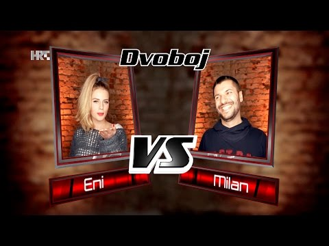 "Eni vs. Milan: ""Like I Can"" - The Voice of Croatia - Season2 - Battle1"
