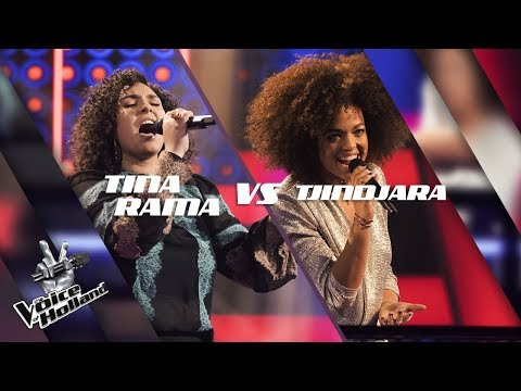 Tina Rama vs. Tjindjara – She Wolf | The voice of Holland | The Battle | Seizoen 8