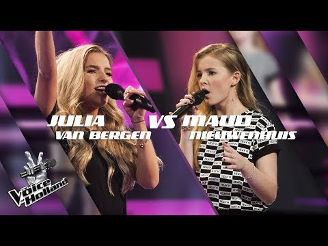 Julia van Bergen vs. Maud Nieuwenhuis – One Last Time/Euphoria | The voice of Holland | The Battle