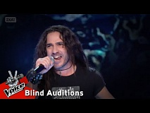 Παύλος Κίτσης - Enter Sandman | 12o Blind Audition | The Voice of Greece