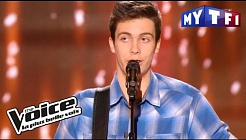 Yoann Guay - « J'entends siffler le train » (Richard Anthony) | The Voice France 2017 | Blind Aud.