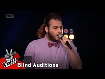 Στέλιος Ψαρογιάννης- When a blind man cries | 14o Blind Audition | The Voice of Greece
