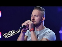 "Paweł Pojasek – ""I feel it coming"" - Przesłuchania w Ciemno - The Voice of Poland 8"
