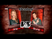 "Ana vs. Bruno: ""Anđeo u tebi"" - The Voice of Croatia - Season2 - Battle1"