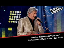 "Francisco Andrade cantó ""Piano Man"" - La Voz Ecuador - Shows en Vivo - Cap. 47 - T1"